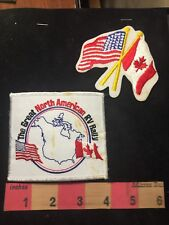 Canada & USA Flags Patches - (North American RV RALLY In AS—IS CONDITON!) 87XD
