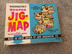 Vintage Waddington's JIG-MAP Shaped Jigsaw Puzzle - Ireland No. 559