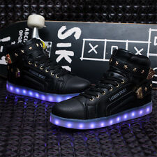 Womens Mens Light Up Shoes LED Flashing Boots Shoes Sneakers Trainer Party Disco