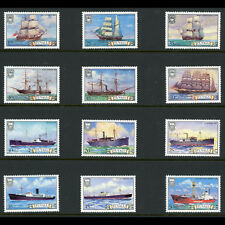 TUVALU 1981 & 1984 Ships. SG 162-167 & 235-240. Mint Never Hinged. (AW459)
