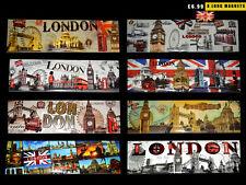 8 LONDON SOUVENIRS FRIDGE MAGNETS - LONG LONDON SCENE MAGNET - UNION JACK MAGNET