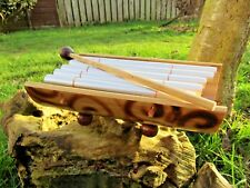 More details for fair trade hand carved made wooden bamboo percussion glockenspiel xylophone