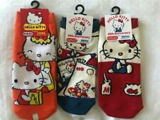 New With Tags 3 Pair SANRIO HELLO KITTY SOCKS Imported from JAPAN B