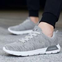 Mens Work Breathable Trainers Casual Running Sports Flat Mesh Sneakers Shoes