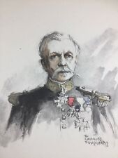 Vice Amiral Rouyer 1920 Marine Charles Fouqueray Lithographie ancienne signée