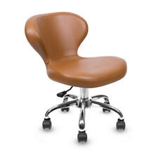 LEXOR Classic Curved Pedi Manicure Technician Facial Stool/Spa chair-CAPPUCCINO