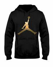 Gold Jumpman Jordan Jumpman Jerzees 50/50 Men's Hoodie