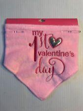 Nwt So Dorable Bandana Bib Pink My 1st Valentine's Day 0-12 Months