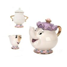 Beauty And The Beast Teapot Mug Mrs Potts Chip Tea Pot Cup Set Xmas Gift Ceramic