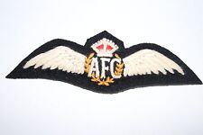 SUPERB COPY FINE DETAIL AFC AUSTRALIAN FLYING CORPS PILOT'S WING IN SILK COTTON
