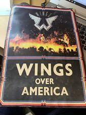 Paul McCartney 1976 Wings Over America Tour Concert Program plus Poster