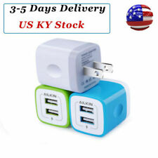 2pcs USB Wall Charger 2.1A Dual Port Phone Charging Base Cube Charger For iPhone