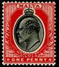 MALTA SG48, 1d black & red, LH MINT. Cat £26.