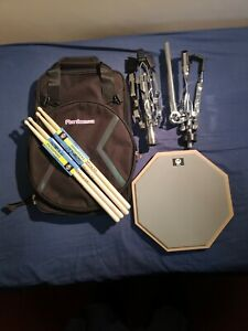 "12""Practice pad bundle including pad/ ruck sack drum bag /sticks and snare stand"