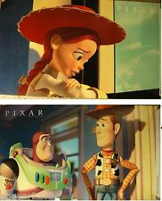 Toy Story 2 - Shareholder Posters - Rare Set of 2 - Woody Buzz Jesse