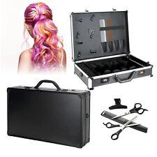 Große Friseurschere Stylist Tool Box Tragbare Aufbewahrungsbox Weißer Streifen