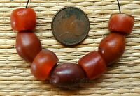 13mm Perles Ancien Afrique Ancient Mali African Neolithic Agate Carnelian Beads