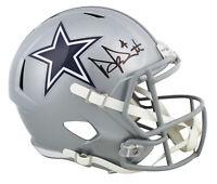 Cowboys Dak Prescott Authentic Signed Full Size Speed Rep Helmet BAS Witnessed