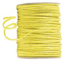 100 mètres cordon raphia laitonné jaune d'or 2.5 mm mercerie loisirs créatifs