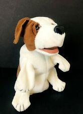 "Folkmanis Puppy Dog Hand Puppet Full Body Brown White Plush Toy Dog  9"""