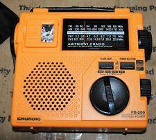 Eton Grundig  FR-200 Emergency Radio Battery Crank YELLOW AM/FM  CASE