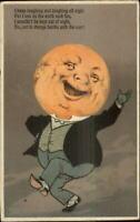 PFB Man in the Moon Fantasy Series Happy Laughing Poem c1910 Postcard