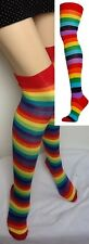 PAIR OF RAINBOW COLOUR SOCKS, LONG KNEE HIGH, PRIDE FAST DISPATCH FROM UK