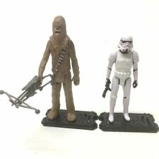 "Lot 2x Star Wars Epic Battles Chewbacca vs STORMTROOPER 3.75"" figure hasbro toys"