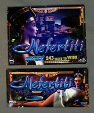 "IGT 19"" I-Game NEFERTITI Top & Belly Glass Set Slot Machine Set"