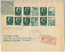47279  - ITALIA RSI:  storia postale - PROPAGANDA di GUERRA su BUSTA - 1944