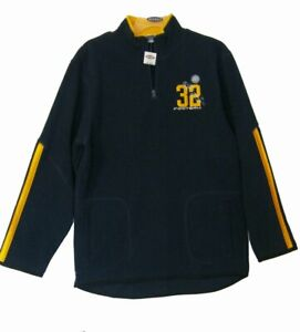 NEW Fleece Sweatshirt BOYS Sz 16 18 XXL 1/2 Zip Pullover Blue OLD NAVY FOOTBALL