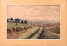 Aquarelle originale Lagardette H Massiges guerre  1914 / 1918
