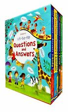 Usborne Lift The Flap - Questions and Answers 5 Books Collection