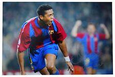 Patrick Kluivert SIGNED 12x8 Photo Autograph Barcelona Football AFTAL & COA