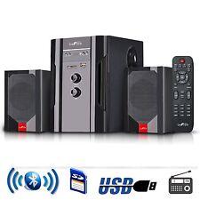 BEFREE SOUND 2.1 CHANNEL SURROUND SOUND HOME THEATER SPEAKER SYSTEM w/ BLUETOOTH