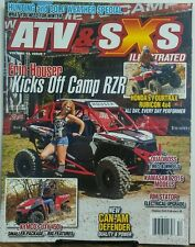ATV & SXS Illustrated Vol 13 Issue 7 Erin Houser Kicks Off Camp FREE SHIPPING sb
