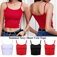 Women Sexy Sleeveless T Shirt Tops Short Vest Short Tops Camisole Crop Tank Top`