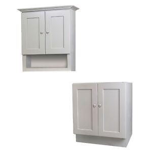 24 x 18 Grey Bathroom Vanity and Tank Topper Cabinet Set