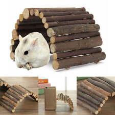 Wooden Hanging Ladder Bridge Natural Wood for Rat Mice Hamster Pet Play Toys