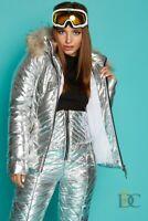 Details about  /Women Winter Waterproof Ski Snowboard Raccoon Fur Hooded Jacket Pants Suit