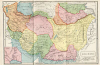 Antique Map Of Oriens Parthia Middle Persia Gedrosia 1907