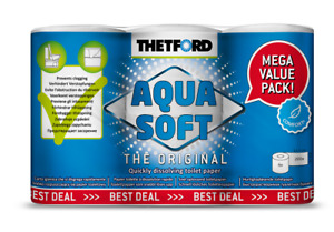 Thetford Aqua Soft toilet paper 6 pack fast dissolving portable toilet T202241