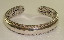 Mens Sterling Silver Cuff Bracelet by John Hardy, 43.6 Grams