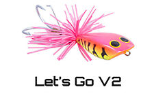 Premium Hand-Made, Hand-Painted MegaFrox Top Water Fishing Lure Let's Go V2