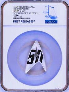 2016 Star Trek 50th Anniversary 1oz Silver Reverse Proof DELTA Coin NGC PF70 FR