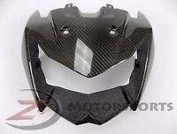 2007-2009 Z1000 Upper Front Nose Headlight Housing Fairing Cowling Carbon Fiber