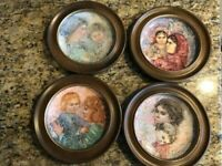 Royal Doulton, Edna Hibel Collector Decorative Plates Colette and Child LOT of 4