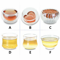 Kinds of Small Handmade Glass Tea Mugs Heat-Resisting Clear Kungfu Tea Cups