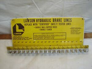 Vintage Lawson Hydraulic Brake Lines Auto Parts Store Rack Ad Hanger
