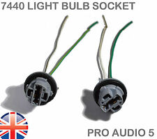 2x 7440 T20 W21W  Light Bulb Socket Holder - 2 Pin Wiring - Car Truck Trailer UK